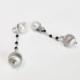 orecchini donna in argento e perle