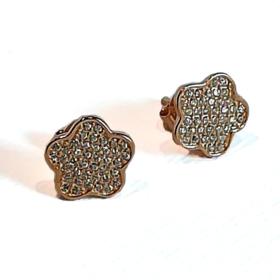 orecchini in argento dorato e zirconi1