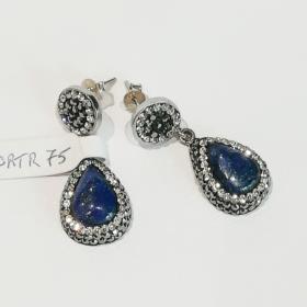 orecchini argento e pietre naturali1