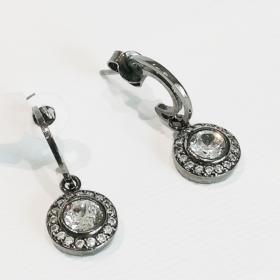 orecchini donna in argento e zirconi1