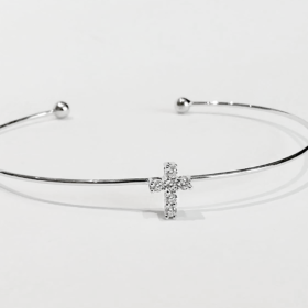 bracciale in argento 925 con zirconi1