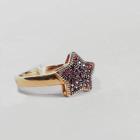 anello donna con zirconi rossi