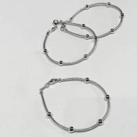 bracciale in argento con sfere1