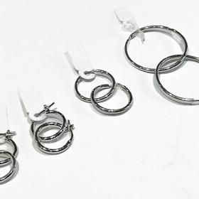 cerchi orecchini in argento