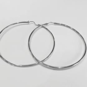 orecchini a cerchio liscio