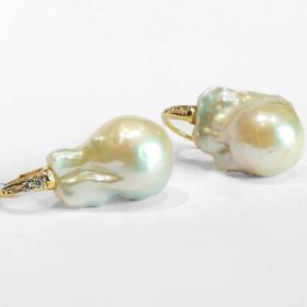 orecchini di perla 20mm