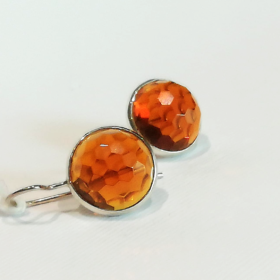 orecchini con quarzo ambrato