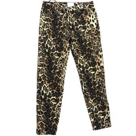 Jeans skinny maculato con strass su tasca