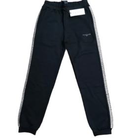 Pantalone in felpa con strass laterali